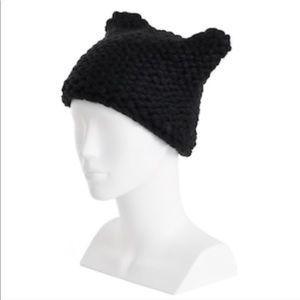 Lc Lauren Conrad Chunky Knit Kitty Ear Beanie 🆕